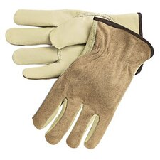 Driver's Gloves - medium reg.grade driversglove w/split leat. back