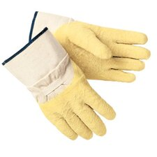 Supported Gloves - rubber coated canvas w/safety cuff
