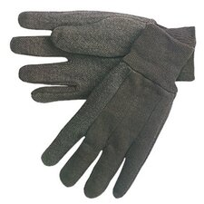 Cotton Jersey Gloves - plastic dotted palm clute pattern men