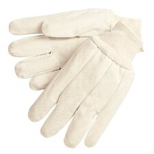 Cotton Canvas Gloves - 12 oz. canvas gloves w/knit wrist men's size