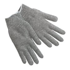 String Knit Gloves - cotton/polyester knit glove natural large
