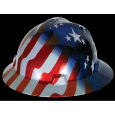 Freedom Series™ Class E Type I Hard Hat With Fas-Trac® Suspension And American Stars And Stripes