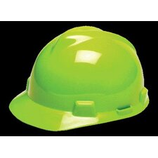Yellow-Green V-Gard® Class E, G Type I Polyethylene Standard Slotted Hard Cap With 1-Touch™ Suspension