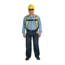 Size Workman™ Vest Style Harness With Quick Fit Leg Strap And Stand Up D Ring