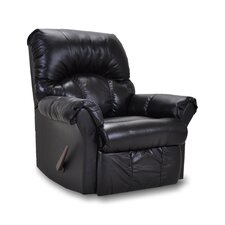 Denton Leather Match Chaise Recliner