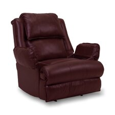 Douglas Leather Match Chaise Recliner