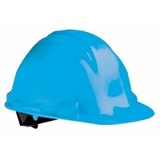 Peak Hard Hats - navy blue safety cap w/rain trough  & 4-point n