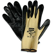 7 Nitri Task KL Black Nitrile Palm Coated Glove With Kevlar Stretch Liner