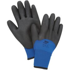 <strong>North Safety</strong> Black And Blue Nylon NorthFlex-Cold Grip™ Coated Work Gloves With Foamed PVC Coating And Synthetic Lining
