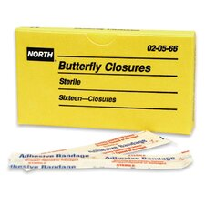 Free Plastic Adhesive Butterfly Closure (16 Per Box)