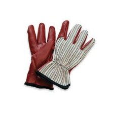 Worknit® HD Glove With Nitrile Coated Palm And Index Finger, Slip-On Cuff & Black Stripe Back