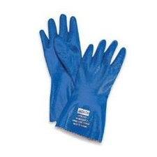 "9 Blue 12"" Nitri-Knit™ Supported Liquid Proof Rough Finish Nitrile Gloves"