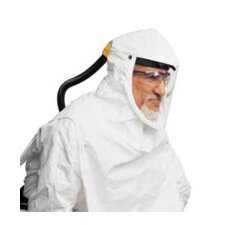 Plus Replacement Saranex Coated Tyvek Hood With Bib Only For Use With Compact Air PAPR