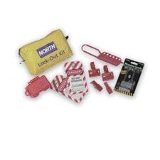 Lockout/Tagout Pouch Includes: -1 LP110 -1 MS01 -2 CB03 -2 CB04 -2 ELA290/1 -1 1DLJ -1 double belt loop zippered pouch