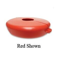 "Red Valve Wheel Lockout For Valve Wheels From 10"" to 14"" In Diameter"