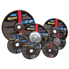 Type 27 Gemini Depressed Center Grinding Wheels - 7x1/4x7/8 reinforced raised hub type 27
