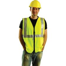 "Yellow OccuLux® Economy Vest With Zipper Front And 2"" 3M Scotchlite™ Reflective Tape (ANSI Class 2)"