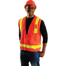 Orange OccuLux® L'Orange Surveyor's Vest With 13 Pockets And Zipper