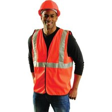 Orange OccuLux® Economy Single Band Traffic Vest With Hook And Loop Closure And 3M™ Scotc