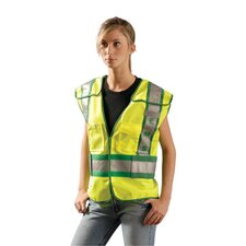 Yellow Tricot Breakaway EMS Public Safety Vest With Hook And Loop Front Closure, Adjustable Sides And 3M™ Scotchlight™ Reflective Tape Stripes