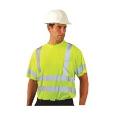 OccuLux® High Visibility Fluorescent Yellow Wicking Polyester T-Shirt With 3M™ Scotchlite™ Reflective Tape