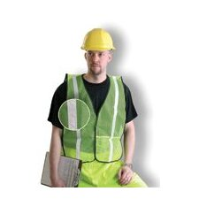 "Yellow Mesh Safety Vest With 1"" Silver Silver Glass Bead Reflective Tape (Non ANSI Compliant)"