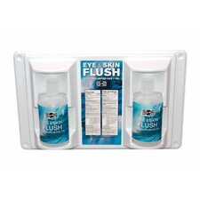 Emergency Flush Stations - 16-oz. eye & skin flushstation w/2 16-oz b