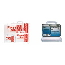 <strong>Pac-Kit</strong> 25 Person Industrial First Aid Kits - 25 person steel first-aid kit w/eyewash