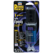 0.84 oz. Permapoxy 1 Minute Dual Syringe General Purpose Epoxy