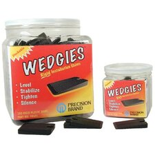 Wedgies™ Installation Shims - the wedgie - black rigidshim - 200 pieces
