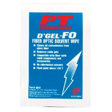 <strong>PT Technologies</strong> D'Gel®-FO Fiber Optic Solvent Wipes - d'gel fo cable cleaner144 wipes per cs