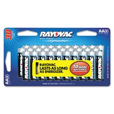 Alkaline AA Battery Value Pack (30 Pack)
