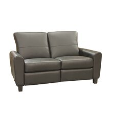 York Leather Reclining Loveseat