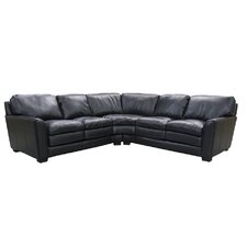 Sacramento Leather Reclining Sectional