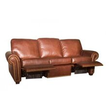 Aurora Leather Reclining Sofa