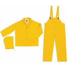 <strong>River City</strong> Classic 3-Piece Flame Resistant Rain Suits Classic .35Mm Pvc/Poly Flame Resist Suit 3 Pc Yw: 611-Fr2003Xl - classic .35mm pvc/poly flame resist suit 3 pc yw