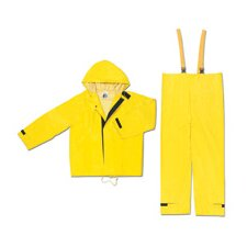 Yellow Hydroblast 0.35 mm Neoprene On Nylon Chemical Protection Suit With Double Stitched And Taped Seams, Adjustable Closures, Attached Hood And Elastic Around Wrists And Neck