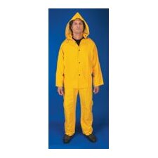 Yellow Classic 0.35 mm PVC And Polyester Rain Suit
