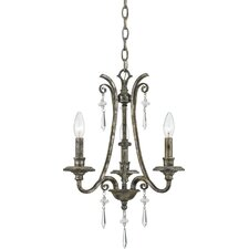 <strong>Quoizel</strong> Kendra 3 Light Mini Chandelier