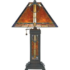 "Museum of New Mexico San Gabriel 23.5"" H Table Lamp with Square Shade"