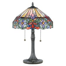 "Tiffany Connie 22"" H Table Lamp with Empire Shade"