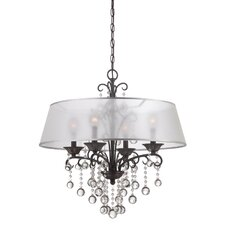 <strong>Quoizel</strong> Carrabelle 4 Light Candle Chandelier