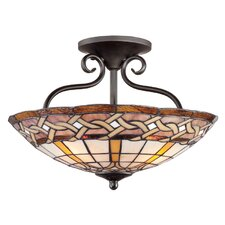 Cross Weave 1 Light Semi-Flush Mount