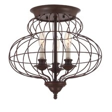 Laila 3 Light Flush Mount