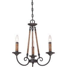 Bandelier 3 Light Candle Chandelier
