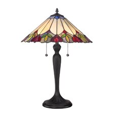 """Fowler Tiffany 23"""" H Table Lamp with Empire Shade"""
