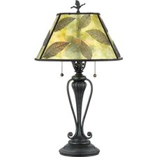 Mica Leaf Table Lamp
