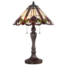 "Fields Tiffany 24"" H Table Lamp with Emprire Shade"