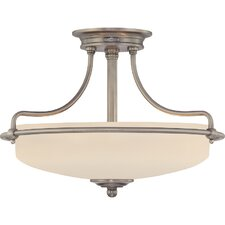 3 Light Griffin Semi Flush Mount