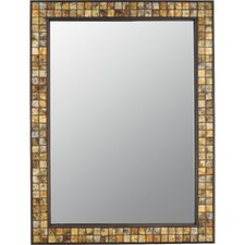 Vetreo Brush Strokes Mirror in Medici Bronze